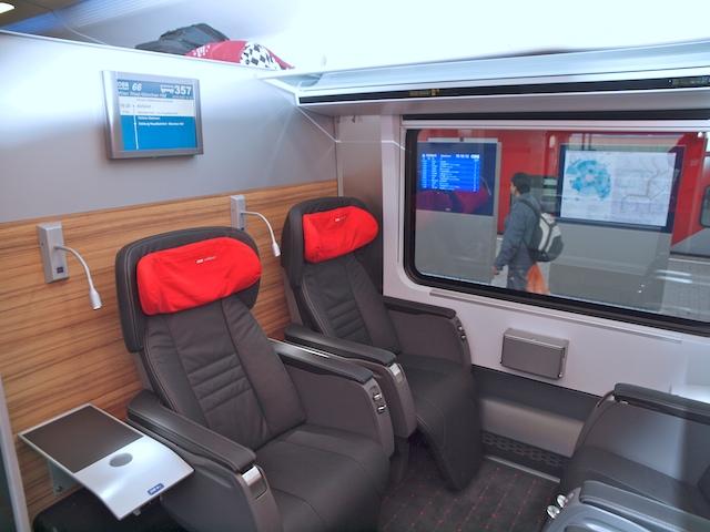 Reisen erster Klasse im Railjet