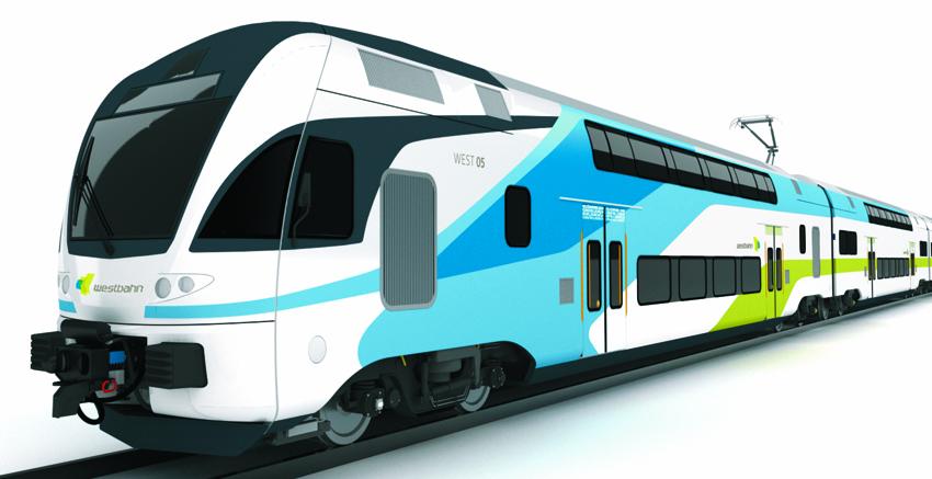 Designentwurf für die Westbahn-Doppelstockzüge (Bild: Westbahn Management)
