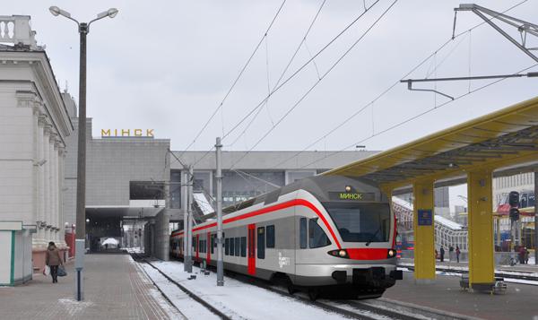 S-Bahn-Zug von Stadler für Weißrussland (Bild: Stadler)